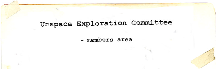 Unspace Exploration Committee Forum Index